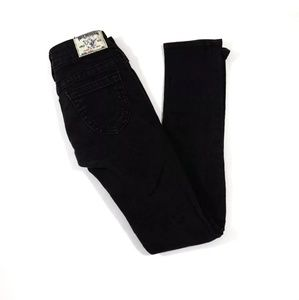 True Religion Skinny Jeans SZ 25 Washed Black